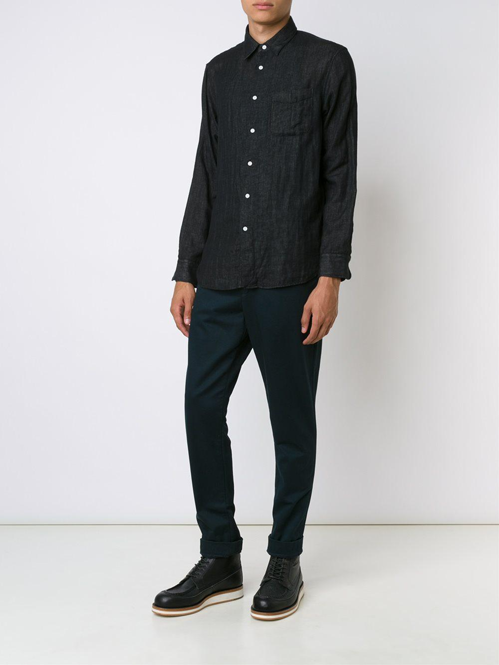 Engineered Garments Cotton Slim Fit Trousers in Blue for Men