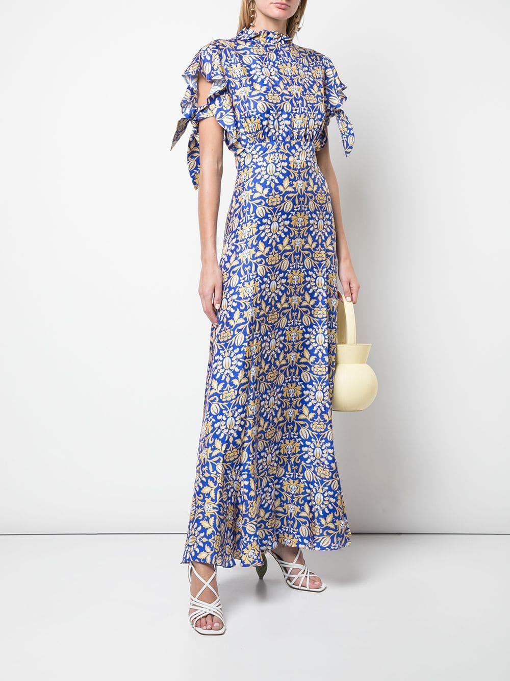 932c12e5c0dce5 Cynthia Rowley Talia Flutter Sleeve Dress in Blue - Lyst