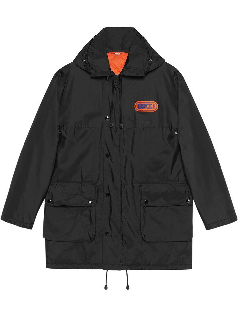 0b3ac0de6aa Gucci - Black Nylon Jacket With Sega Patch for Men - Lyst. View fullscreen