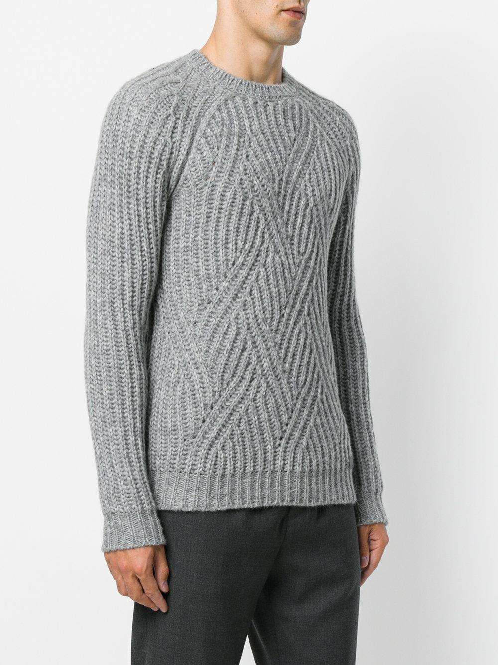 Tod's Synthetic Crew Neck Jumper in Grey (Grey) for Men
