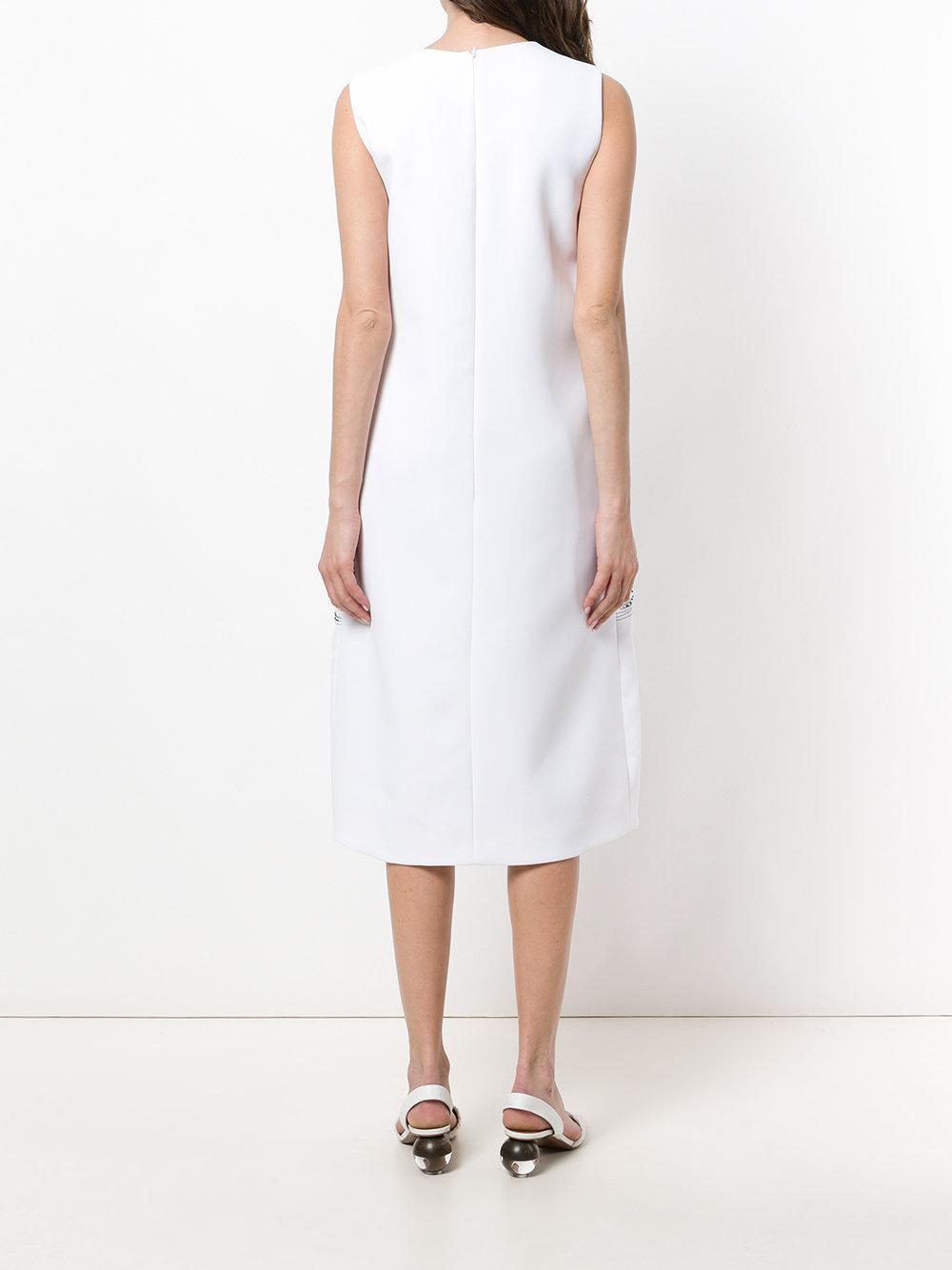2d449dbe5 ... Victoria Beckham - White Flamingo Embroidered Shift Dress - Lyst. View  fullscreen