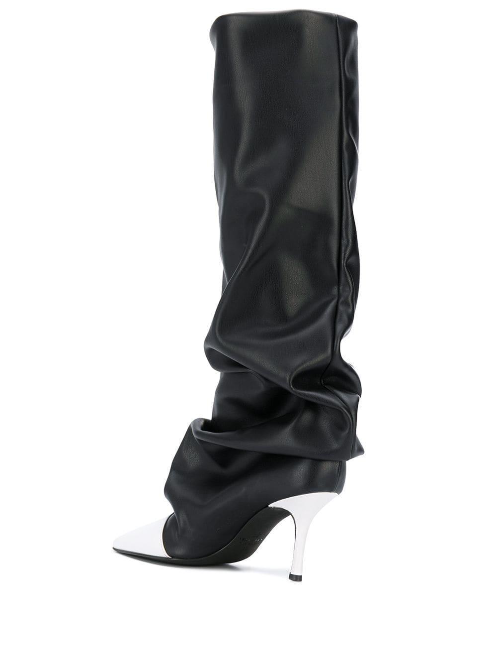 Botas de media caña con drapeado Marc Ellis de Cuero de color Negro