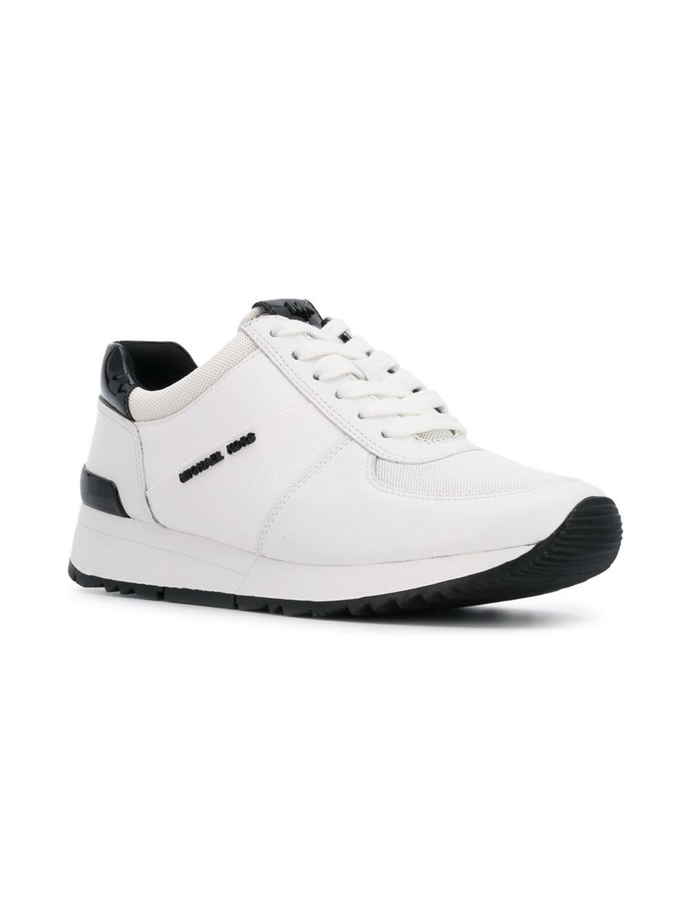 MICHAEL Michael Kors Leather Allie Sneakers in White