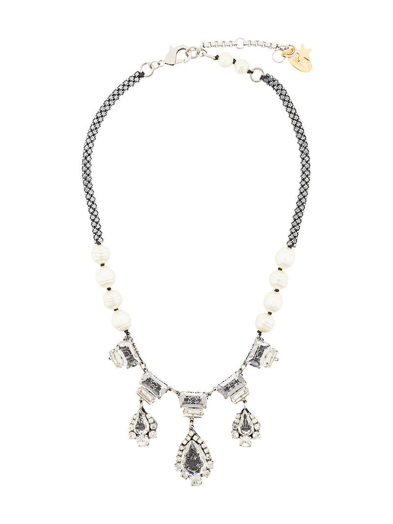Rada embellished necklace - Metallic w0Plzv