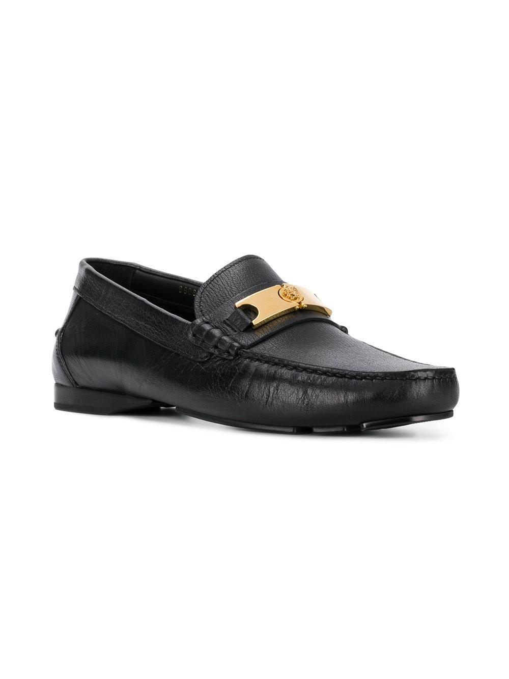 2b7bb149ddd Lyst - Versace Medusa Head Loafers in Black for Men