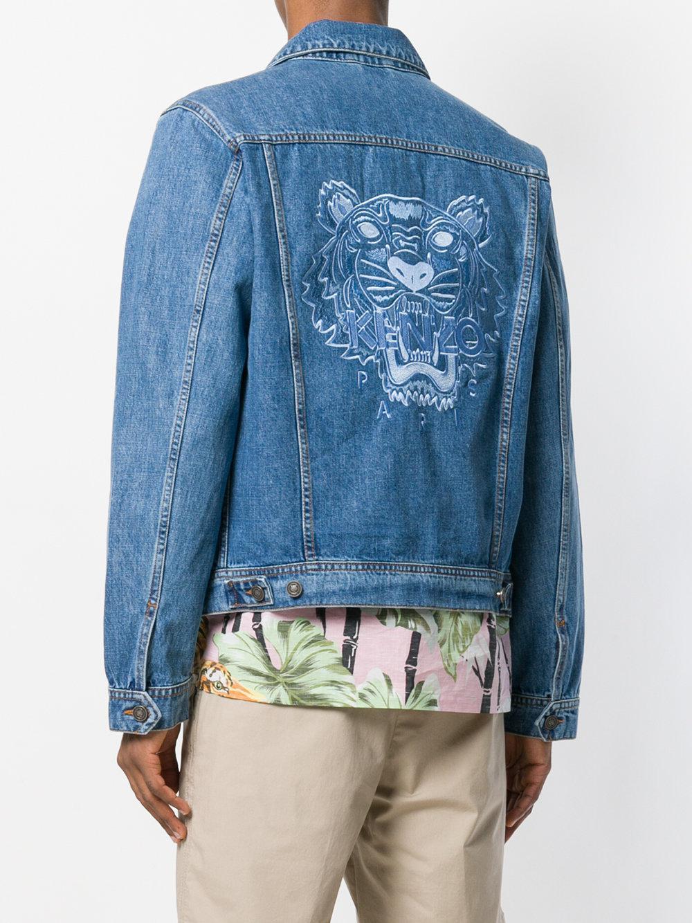 c806da494a Lyst - KENZO Embroidered Tiger Denim Jacket in Blue for Men