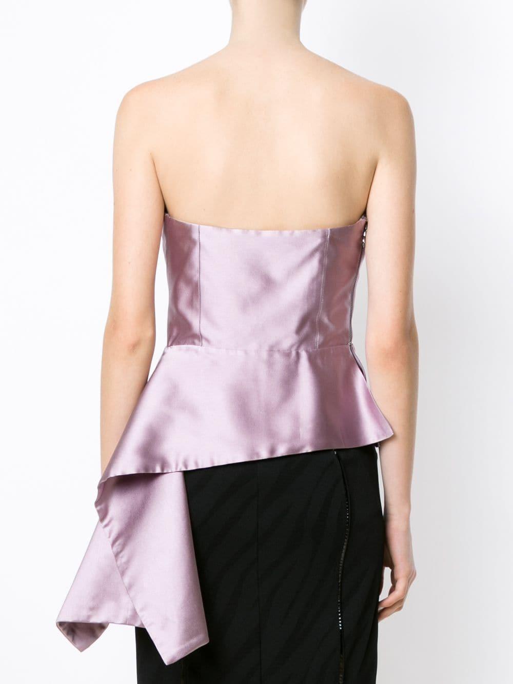 Bandeau blouse Soie Tufi Duek en coloris Rose