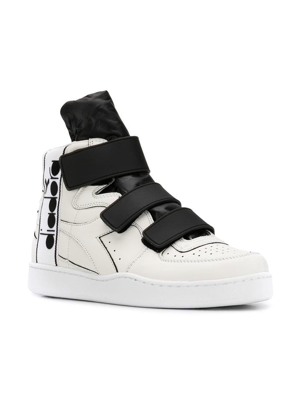 a01b4db7 Diadora White Basket Tape Hi-top Sneakers