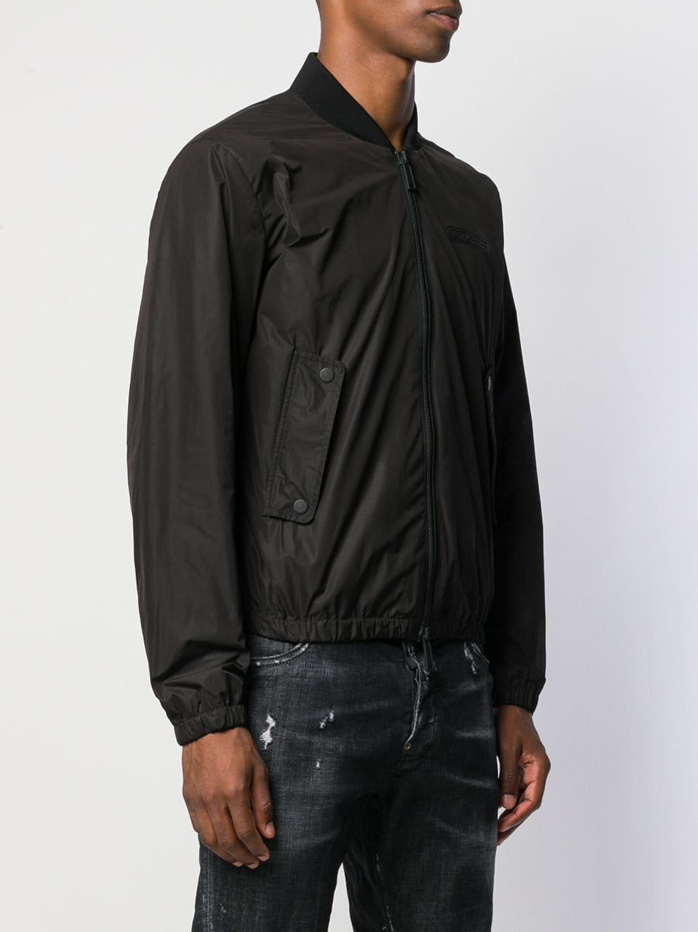 DSquared² Katoen Jas Met Logo in het Zwart voor heren