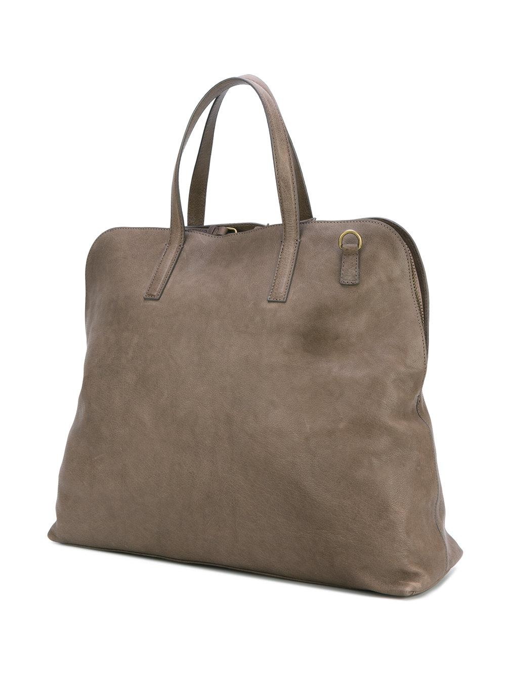 Officine Creative Leather Arman Tote in Grey (Grey)