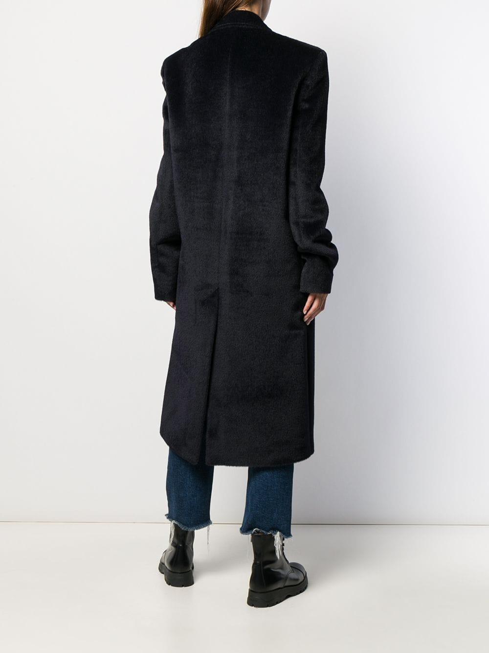 Manteau à col à revers oversize Laines Y. Project en coloris Bleu VFfd8