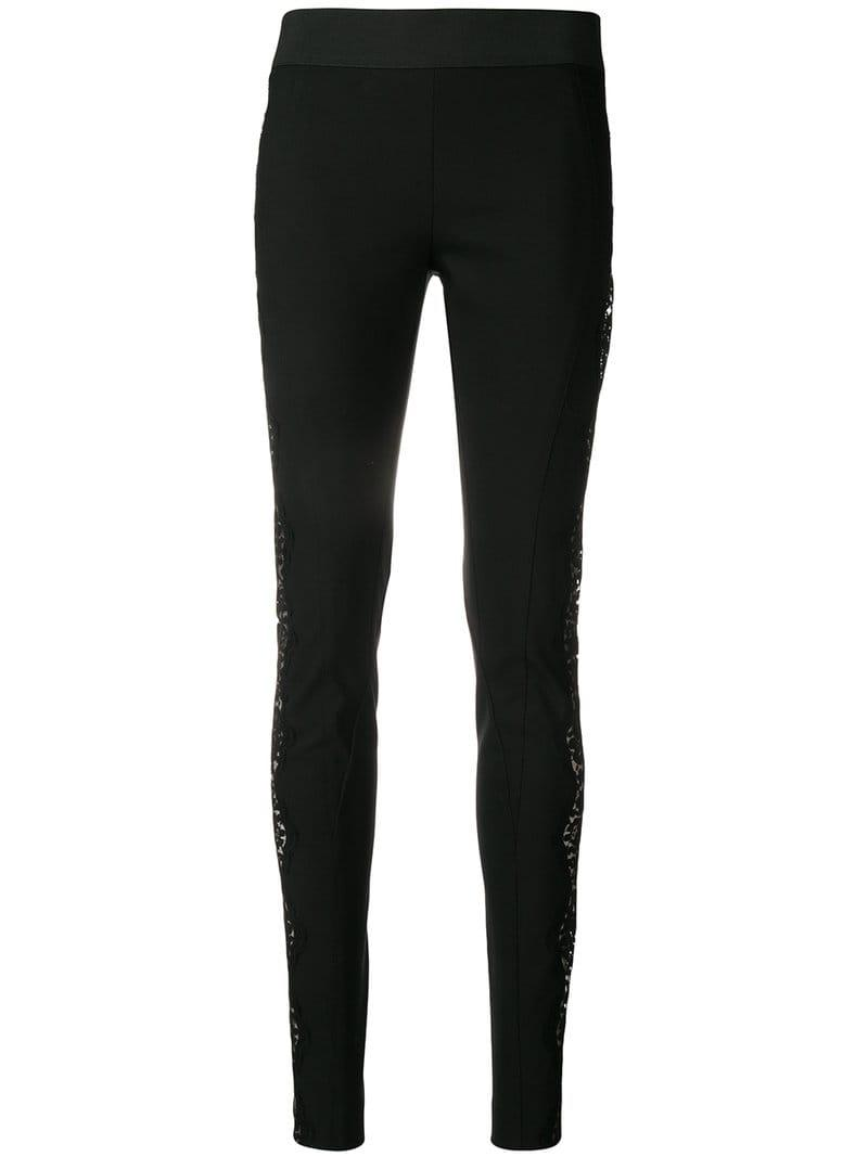 6d86391ef2ab5 Lyst - Stella McCartney Lace-embellished leggings in Black