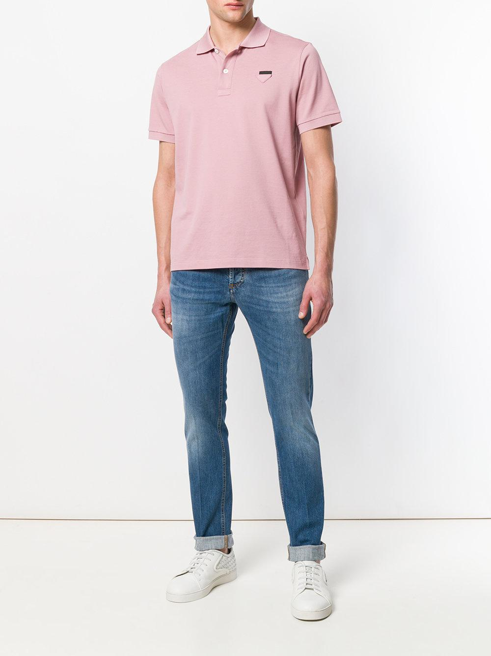 Entre Amis Denim Turn-up Straight Leg Jeans in Blue for Men