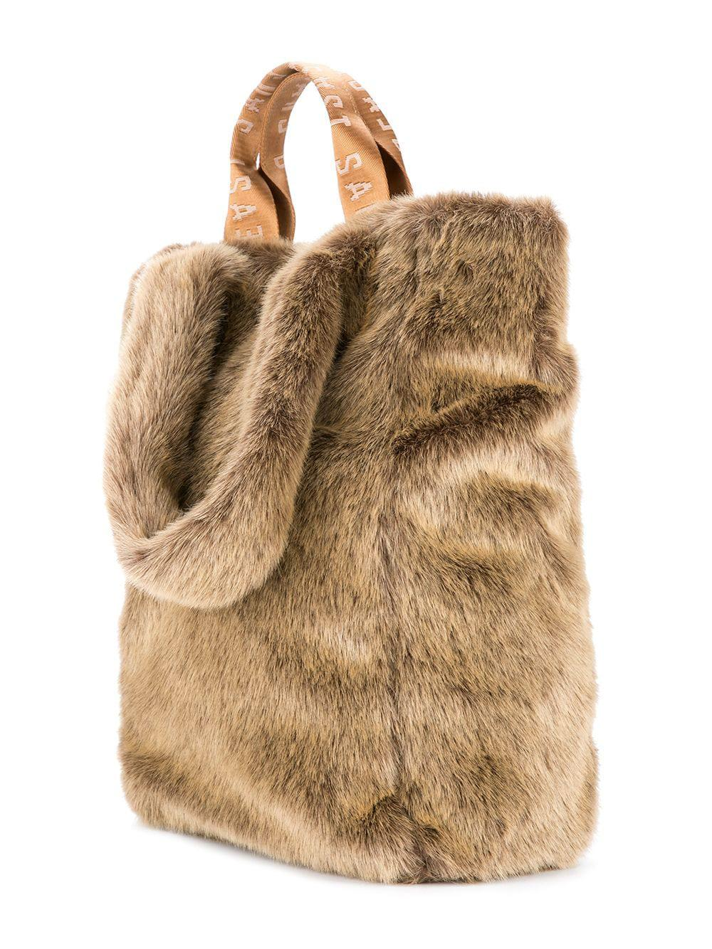Unreal Fur Tzippy Wide Tote in Brown - Lyst