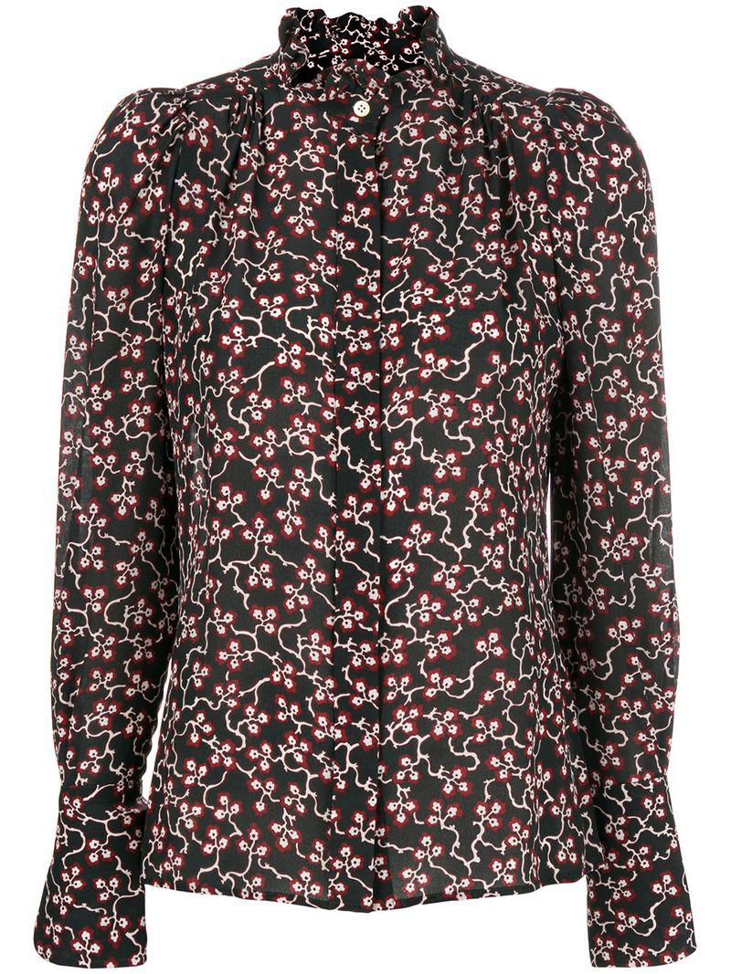 d9f128616e09f Isabel Marant Printed Lamia Blouse in Black - Lyst