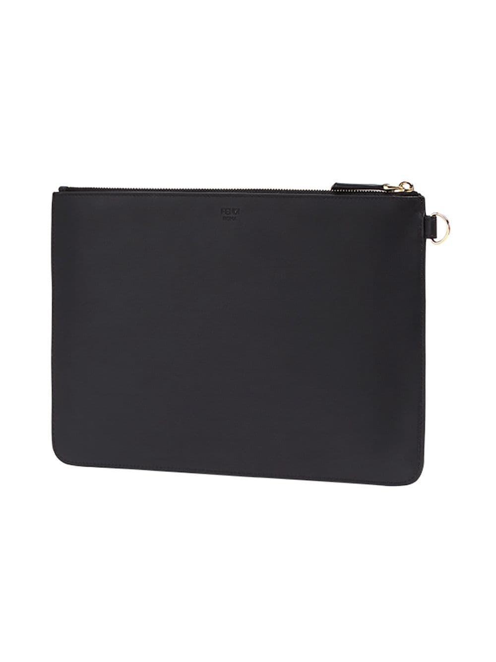 fa2a5b50f95b Lyst - Fendi Bag Bugs Leather Pouch in Black for Men