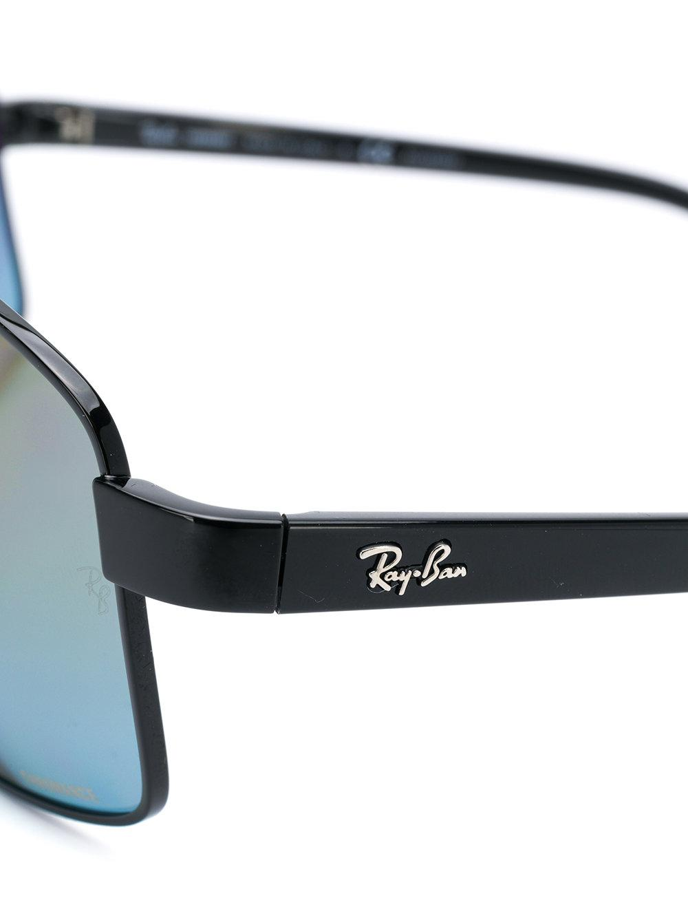 Ray-Ban Rectangular Sunglasses in Black
