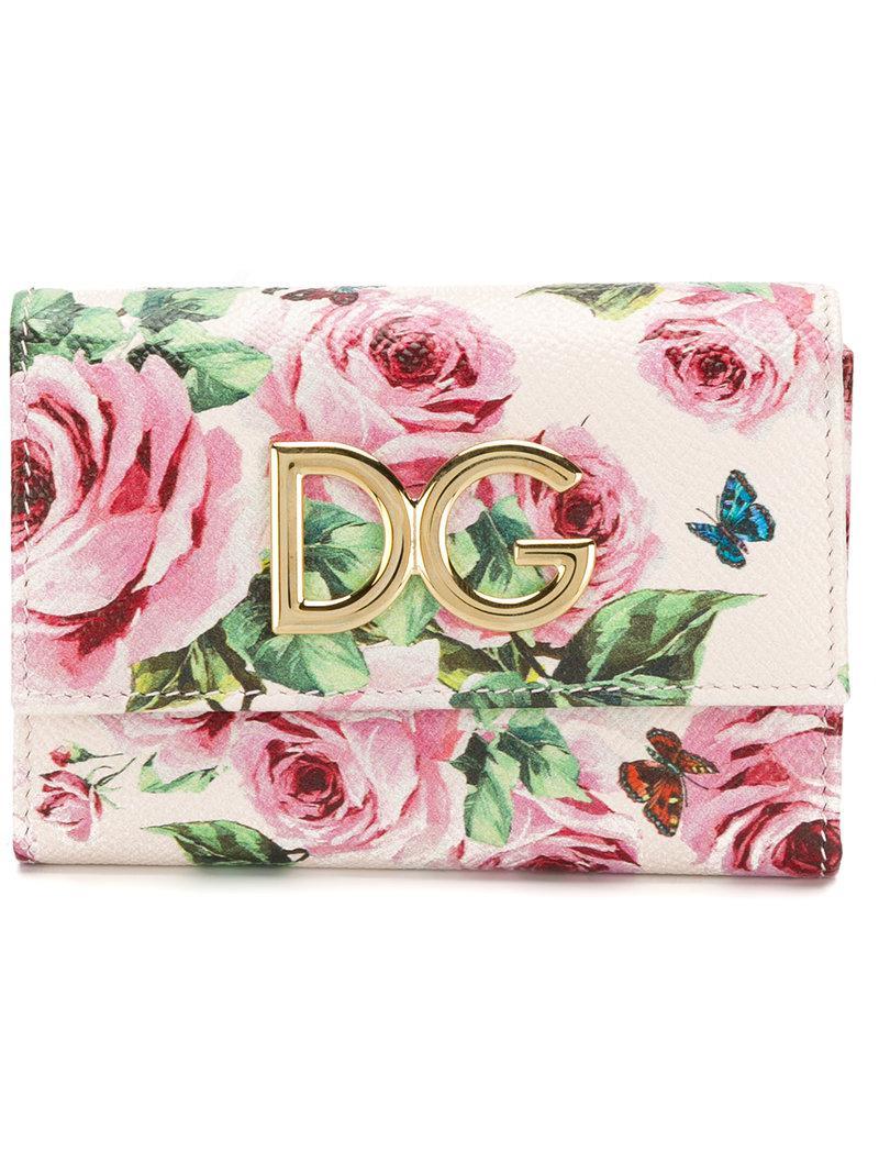 Monedero De Gabbana Continental Dolce Rosa Estampado vY4qvrw1