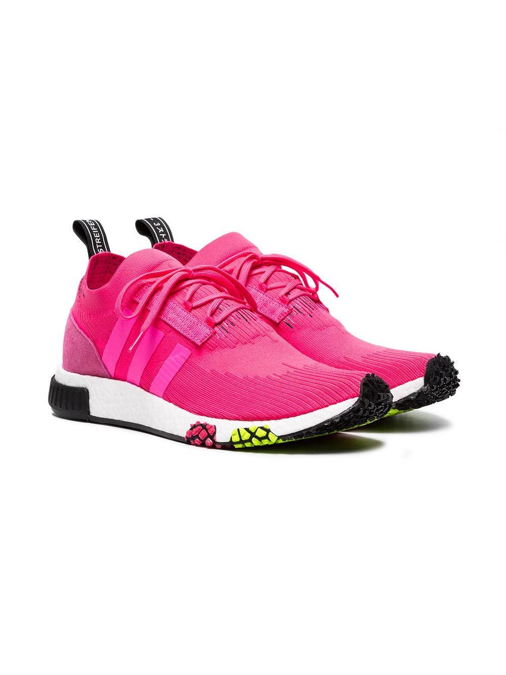 Zapatillas NMD Racer Primeknit adidas de Tejido sintético de color Rosa para hombre