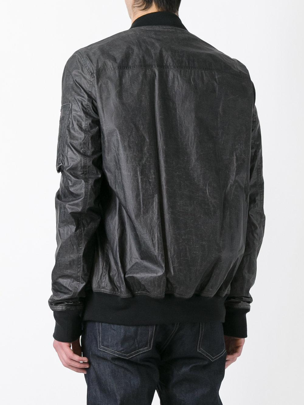Rick Owens Drkshdw Cotton Zipped Bomber Jacket In Black