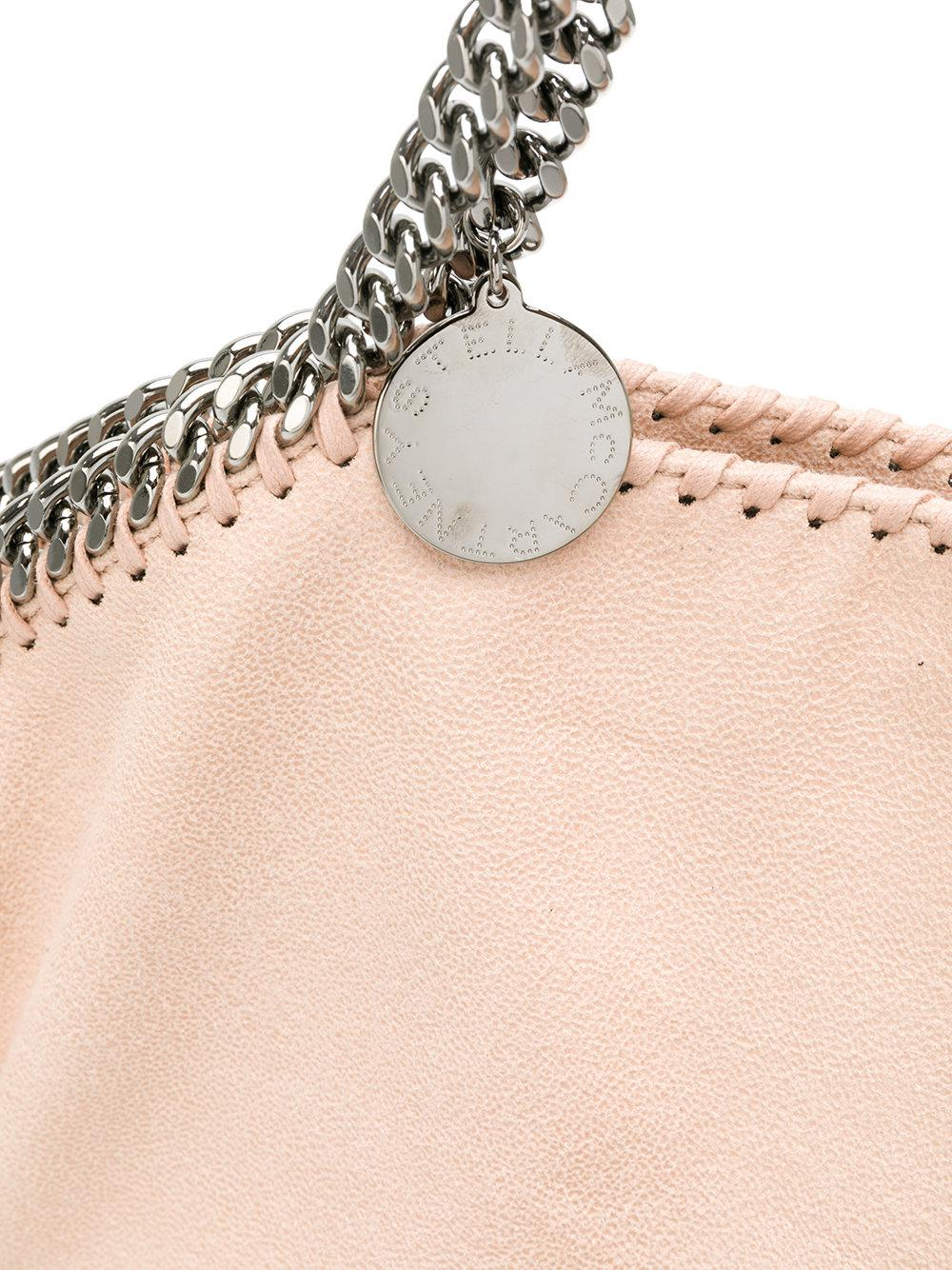 Stella McCartney Leather Large Falabella Tote in Pink & Purple (Pink)