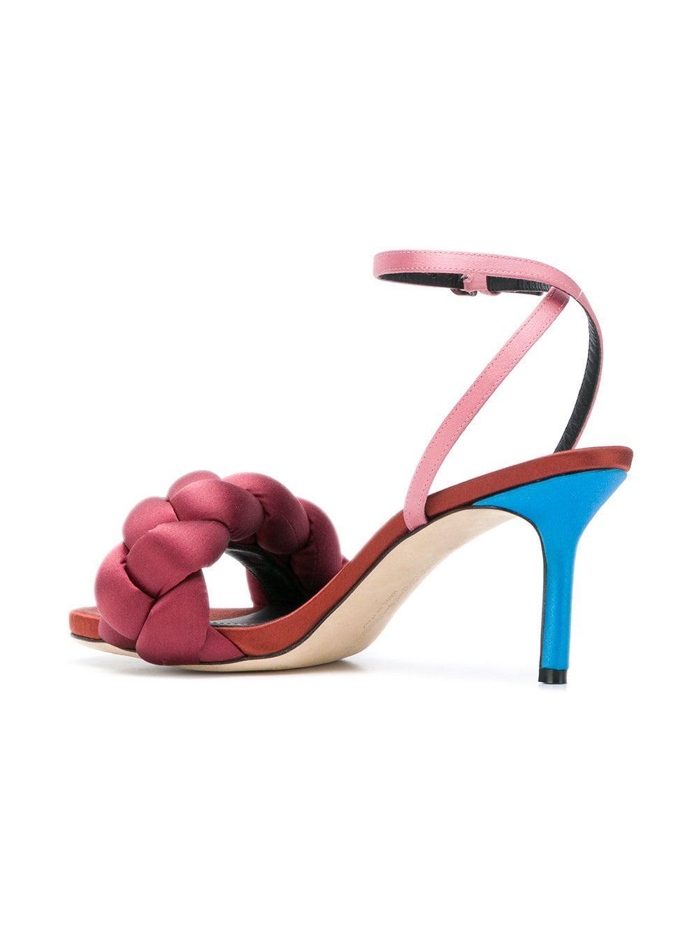 c045324caebc7e Marco De Vincenzo - Pink Braided Strap Sandals - Lyst. View fullscreen