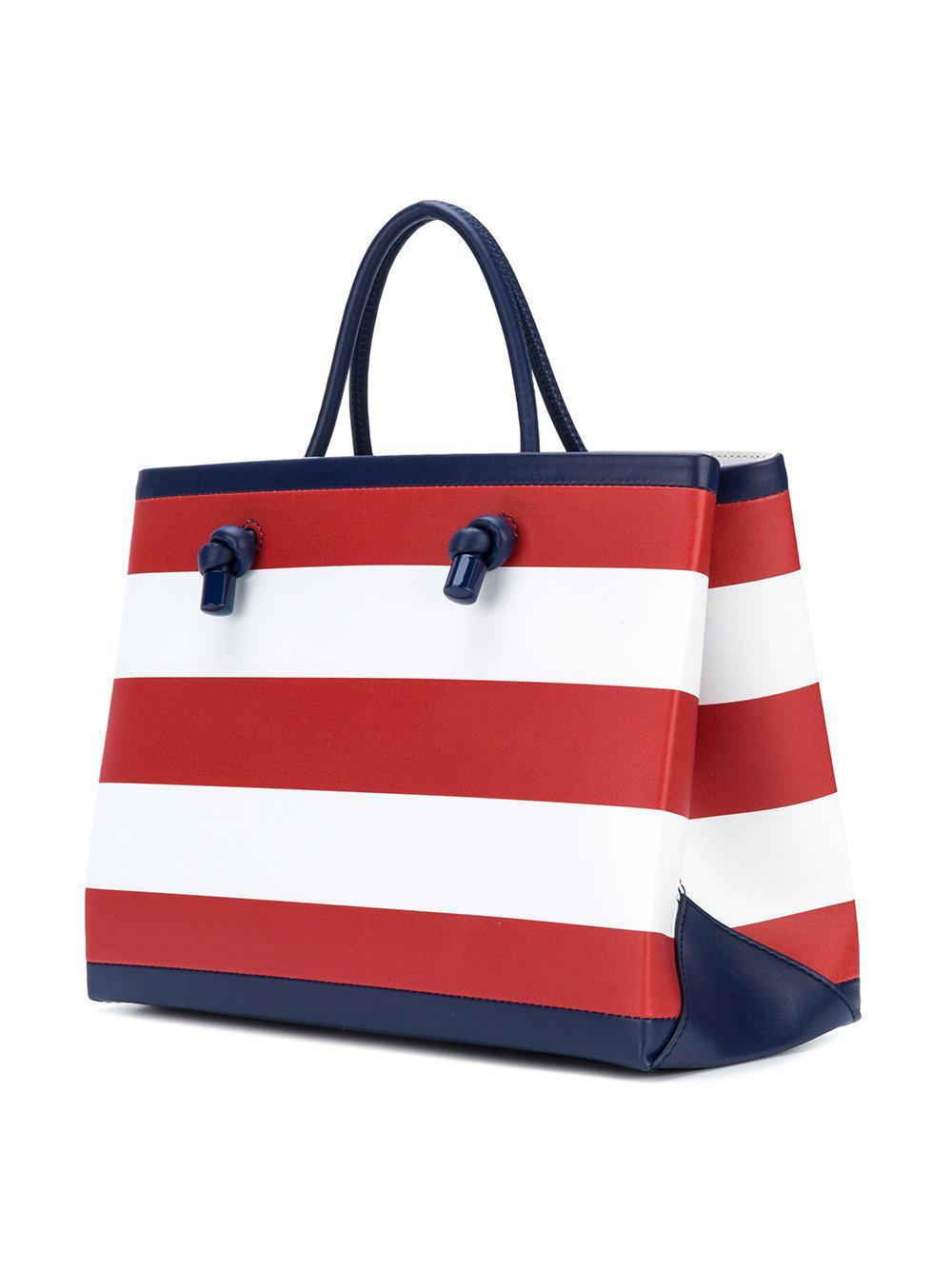Alberta Ferretti Leather Today Tote Bag in Blue