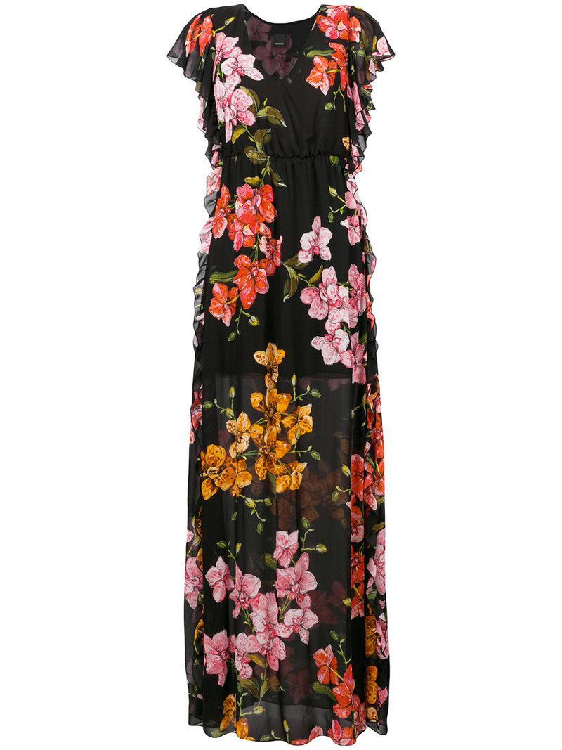 Pinko floral print wrap dress Cheap Sale Visit New AeYMaBX