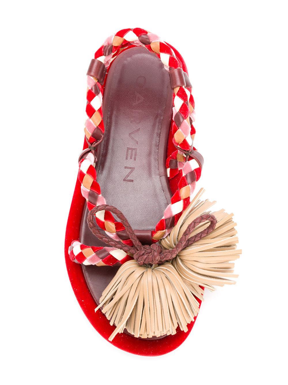 Sandales De Corde Rouge Carven - 0qZUsi