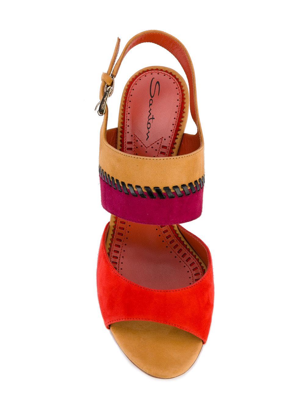 santoni Whipstitch detail sandals lxC3fSMeo