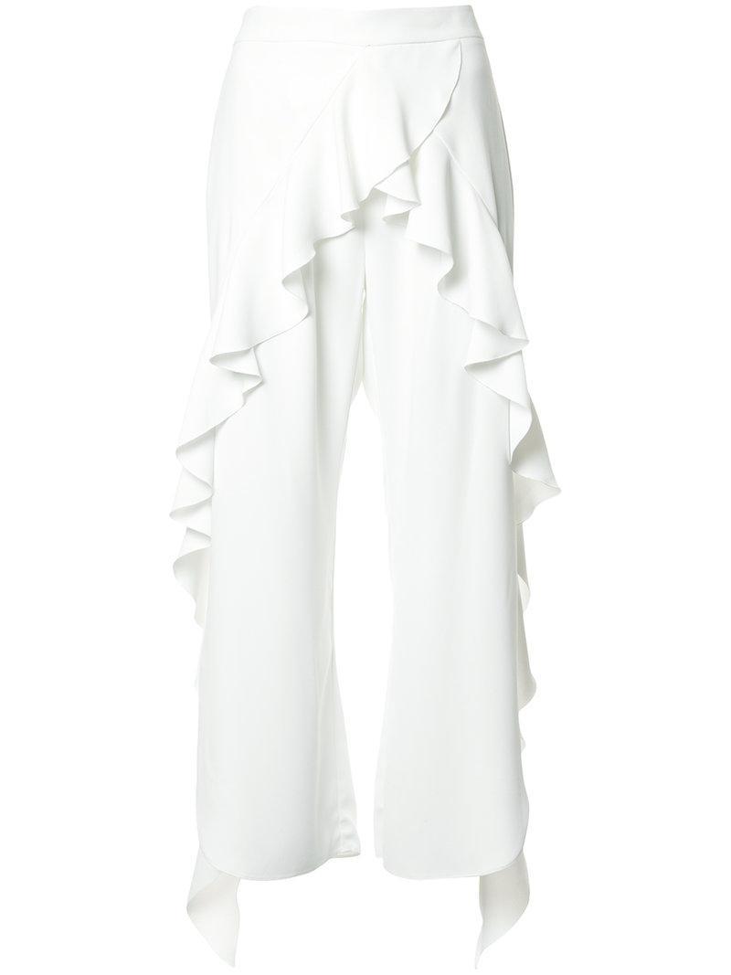 ruffled slit trousers - White GOEN.J U3EoX