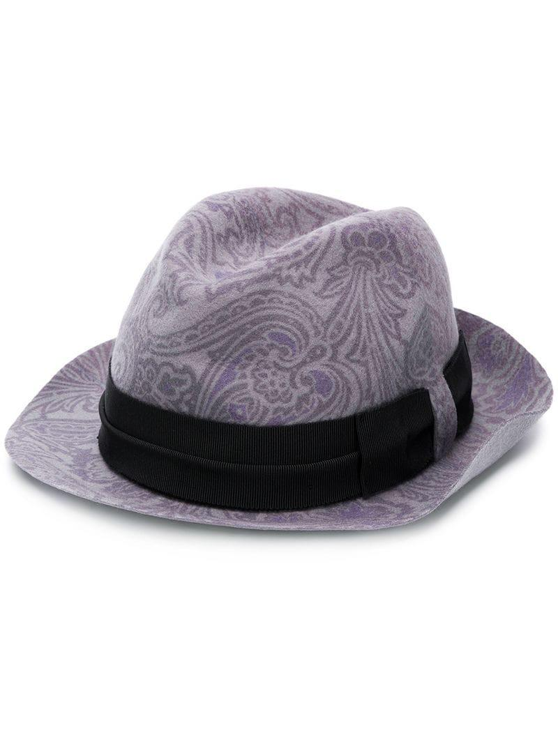 04f75a3591b Etro Paisley Print Hat in Purple for Men - Lyst