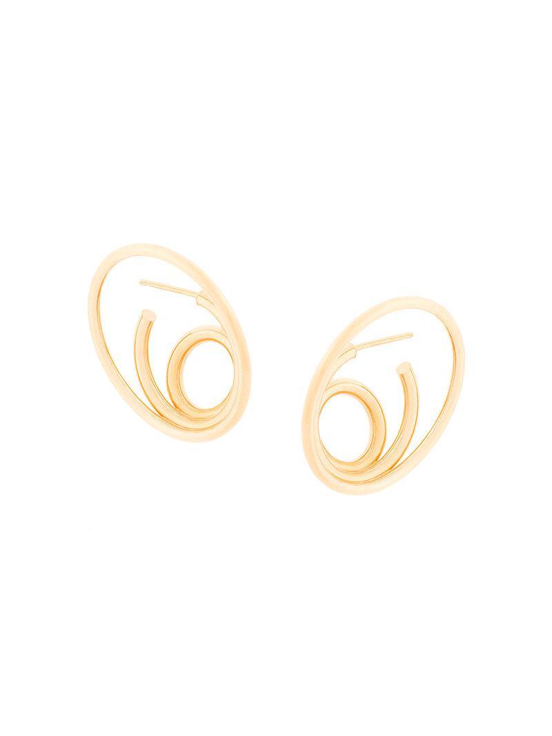 Charlotte Chesnais Ricoché large earrings - Metallic GA36M