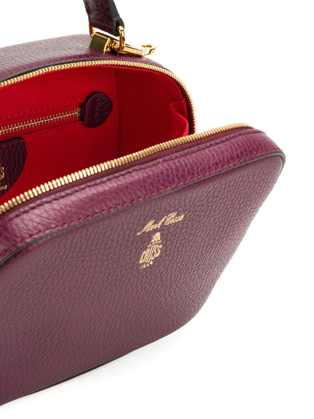 Mark Cross Leather Baby Laura Shoulder Bag in Pink & Purple (Purple)