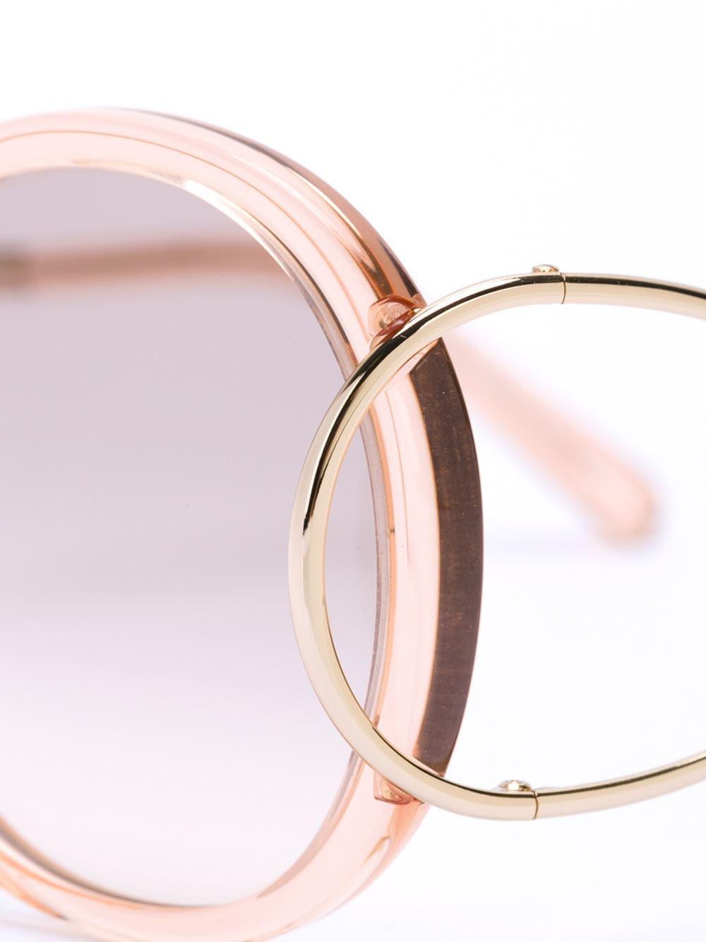 4c829e49e8b Chloé  jackson  Sunglasses in Metallic - Lyst