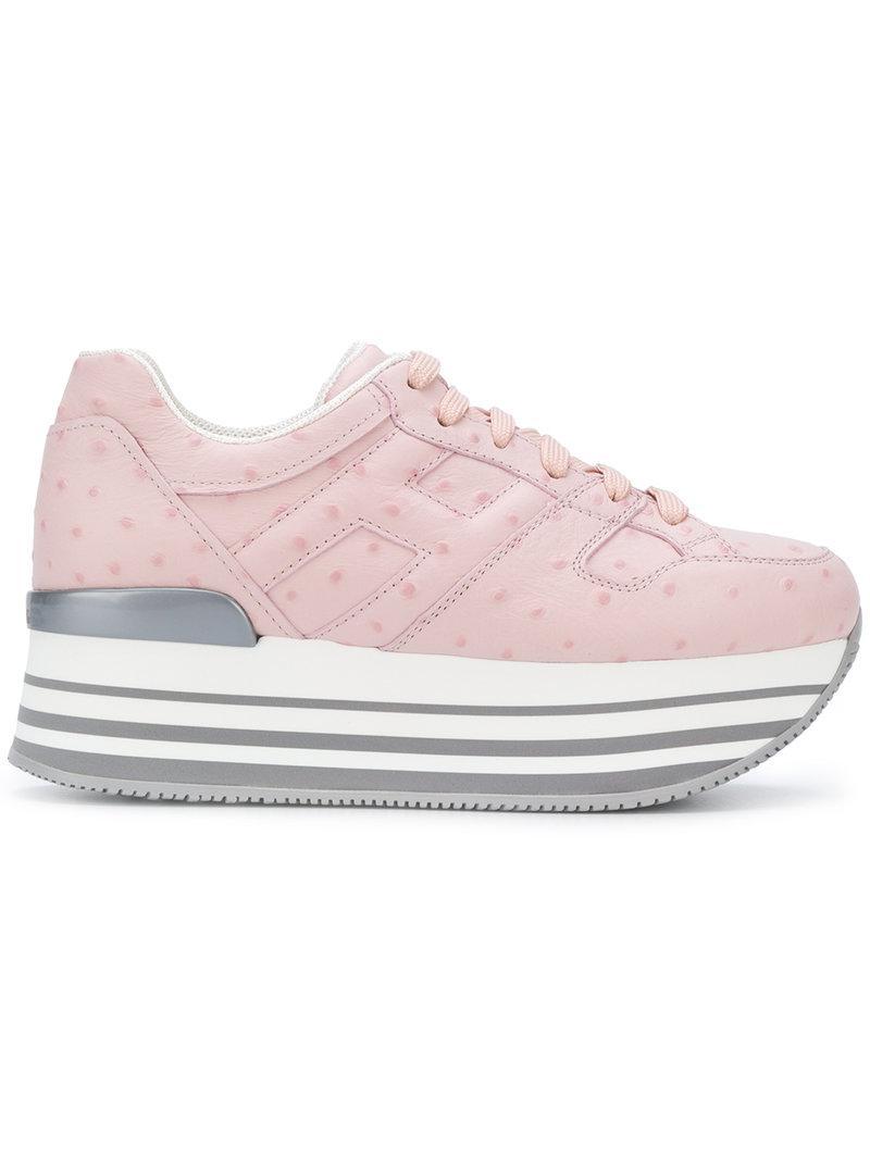 metallic low-top sneakers - Pink & Purple Hogan ar38FFhdBF