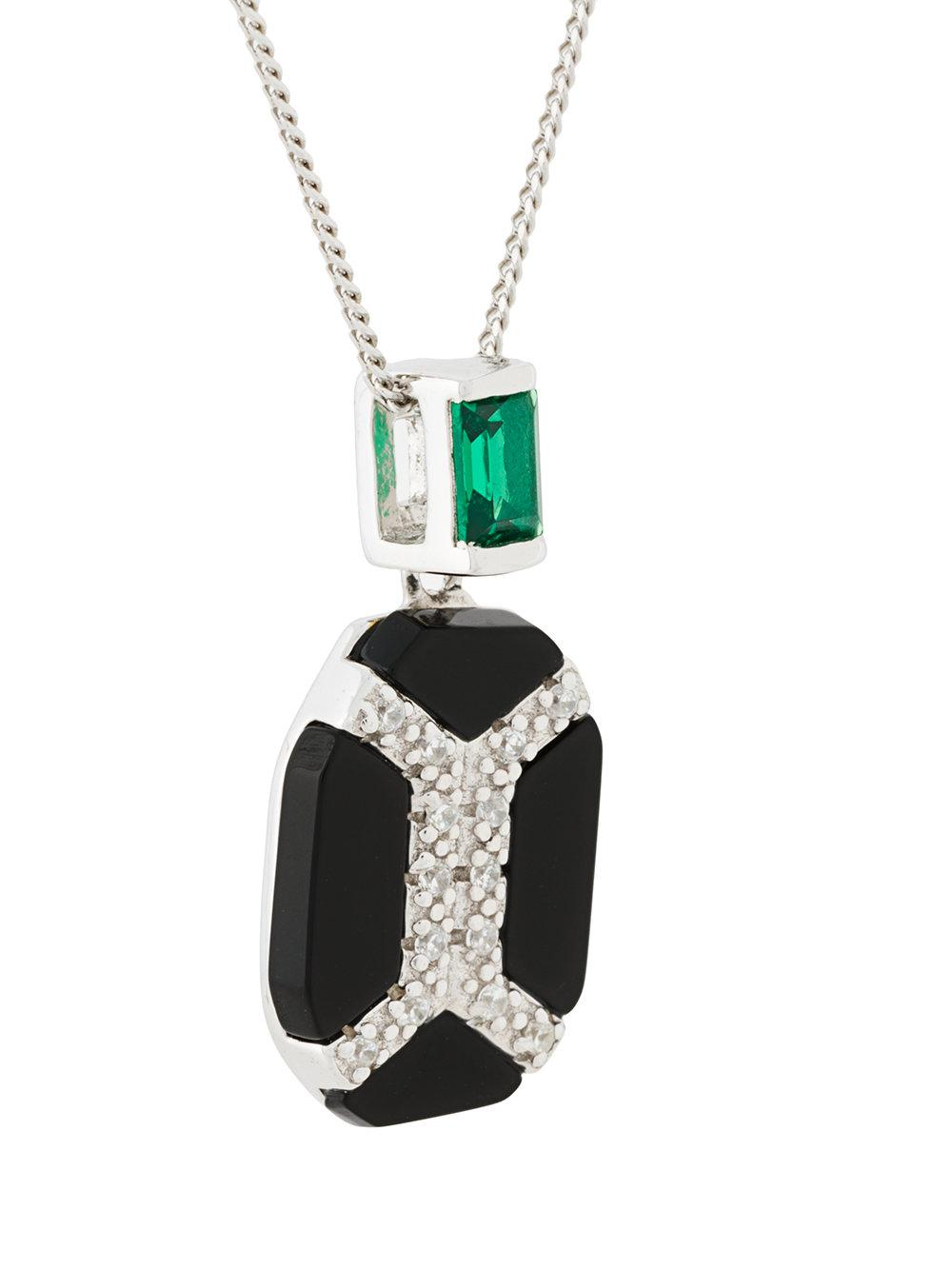 V Jewellery Vanessa Pendant Necklace in Metallic