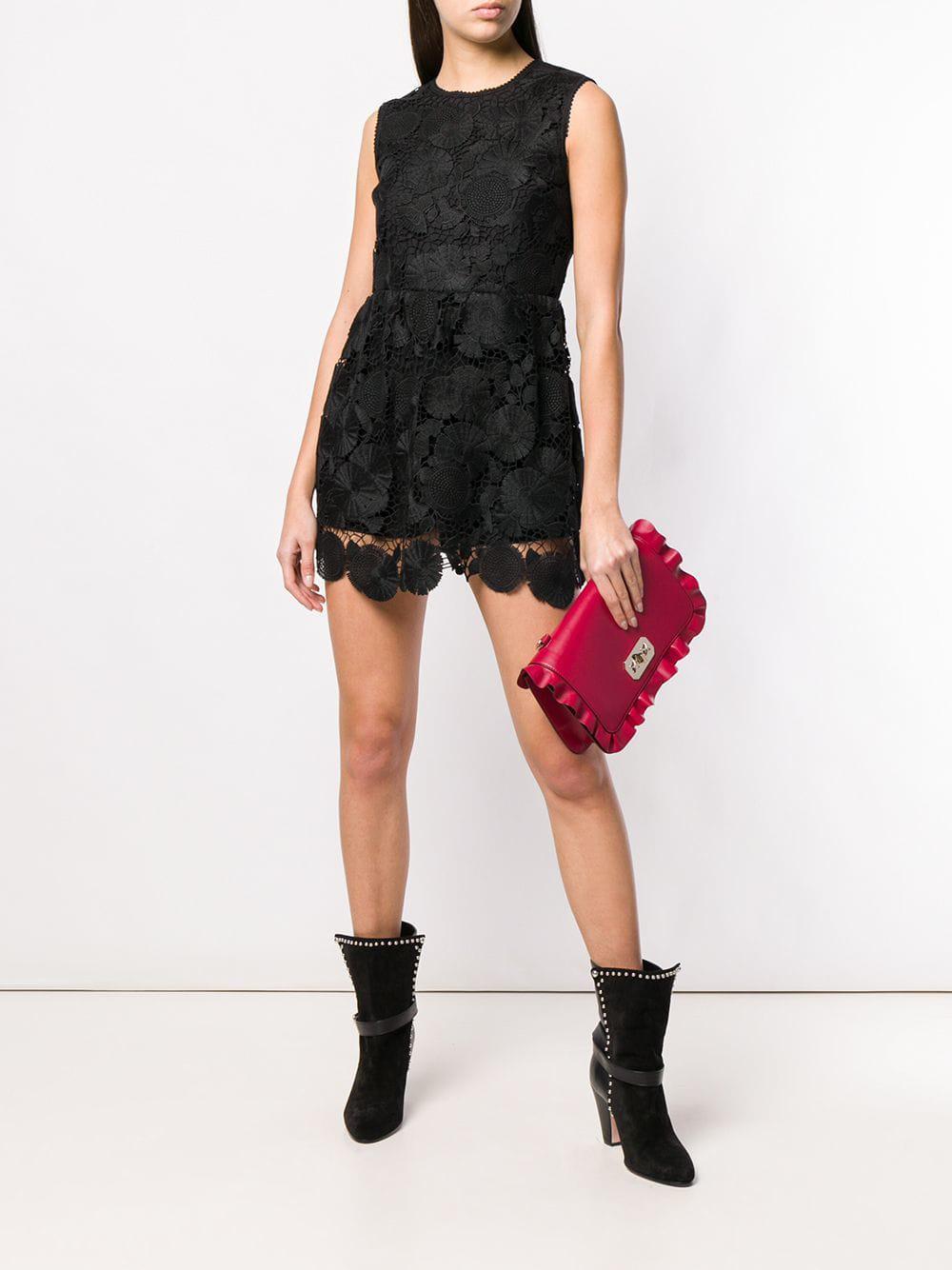 1a56b4bd5f ... Black Lace Playsuit - Lyst. View fullscreen