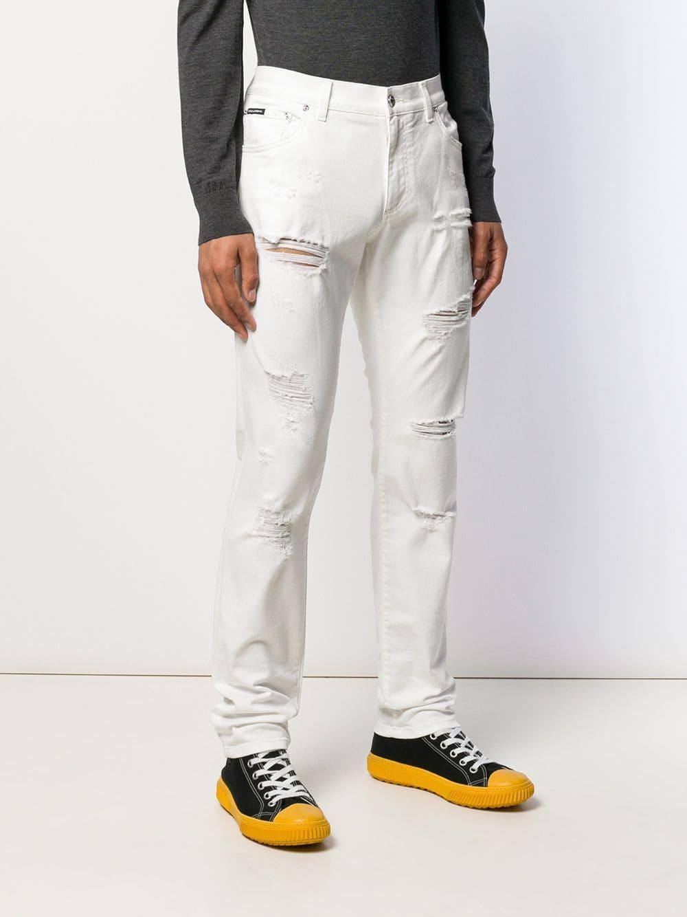 Dolce & Gabbana Denim Straight Jeans in het Wit voor heren