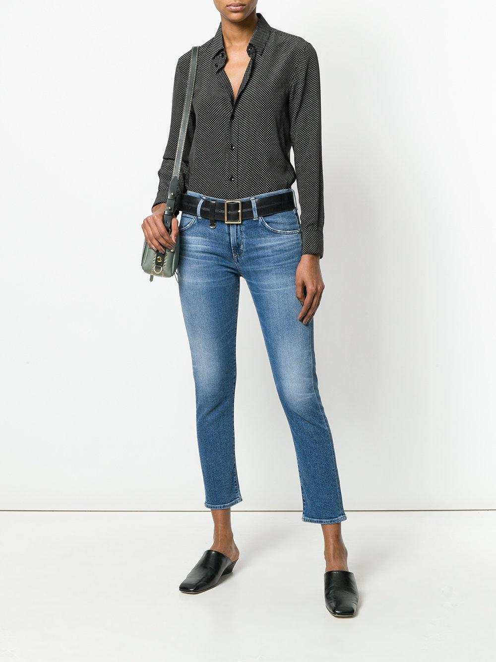 Citizens of Humanity Denim Elsa Cropped Skinny Jeans in Blue