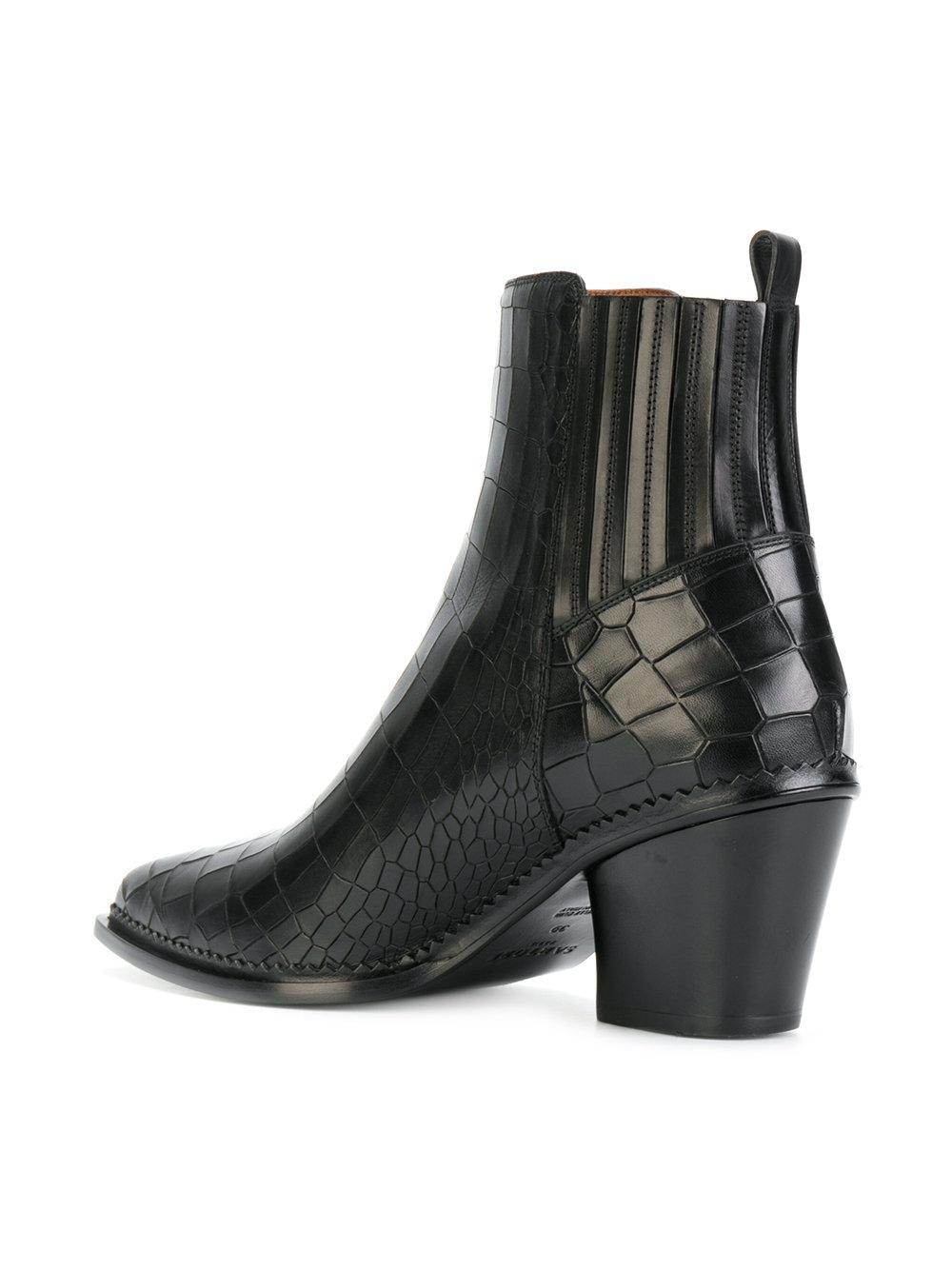 Sartore Leather Western Boots in Black