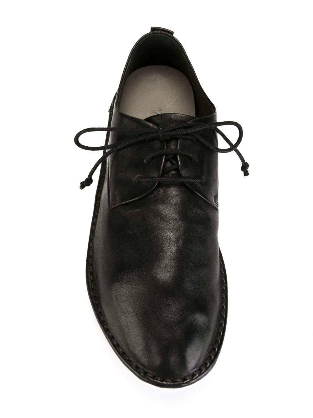 Marsèll Leather Stitching Detail Shoes in Black for Men