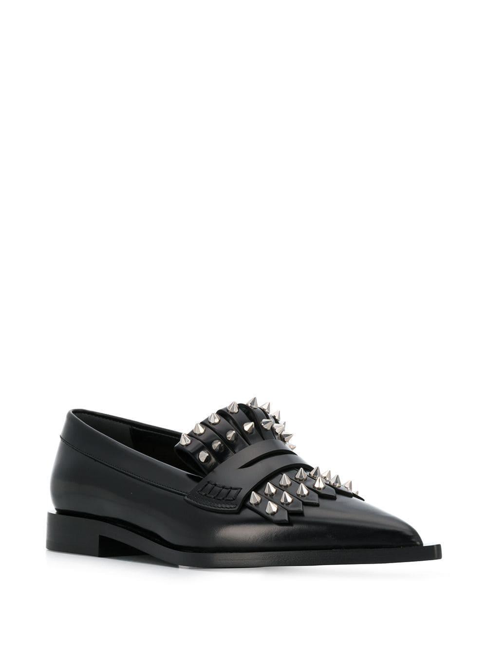 Mocasines con flecos Alexander McQueen de Cuero de color Negro