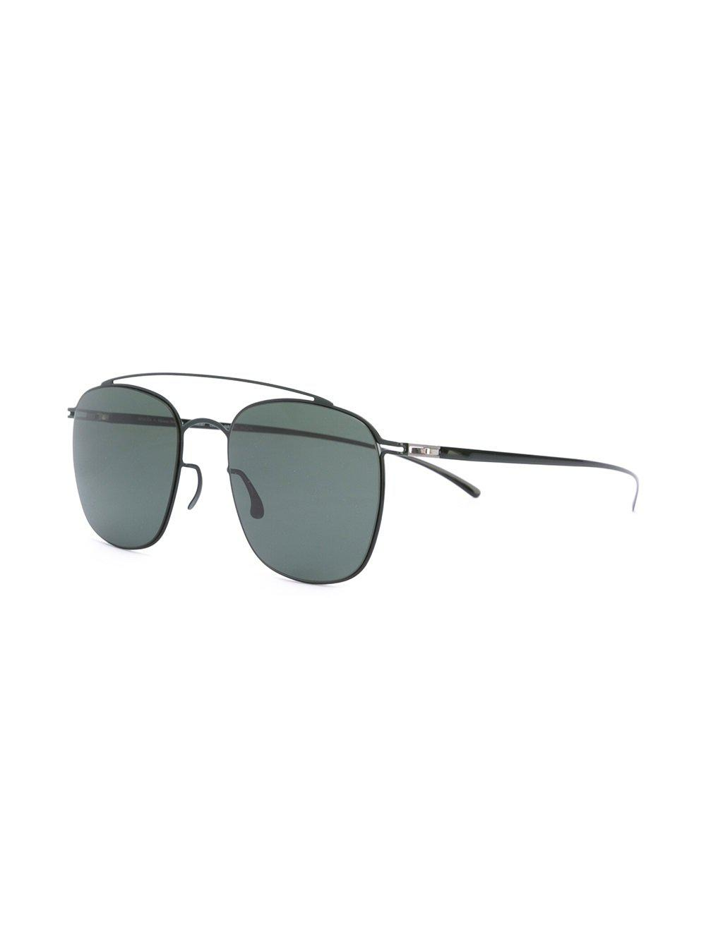 Mykita Maison Martin Margiela X Aviator Sunglasses in Green (Black)