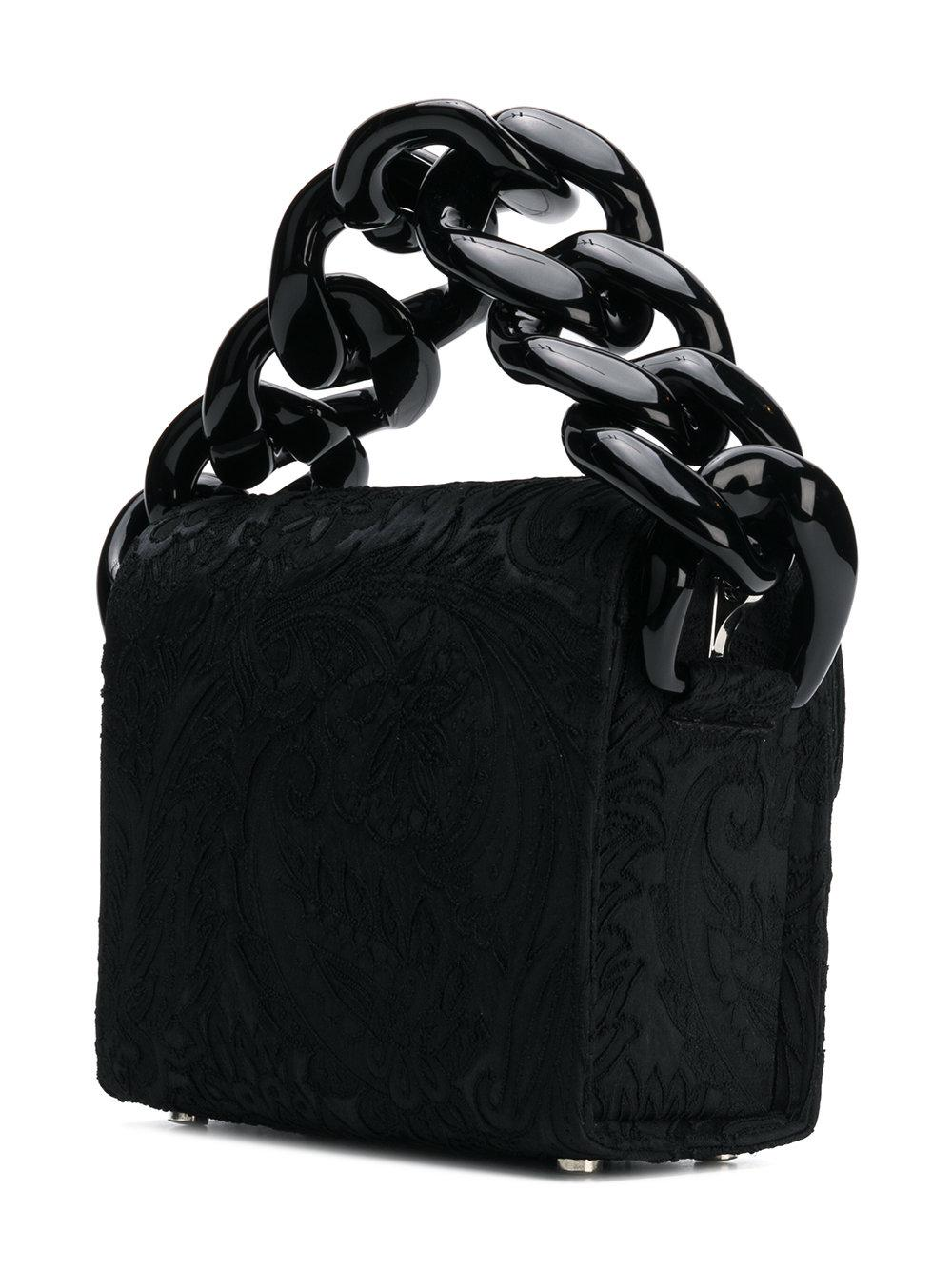 Marques'Almeida Leather Embellished Tote Bag in Black