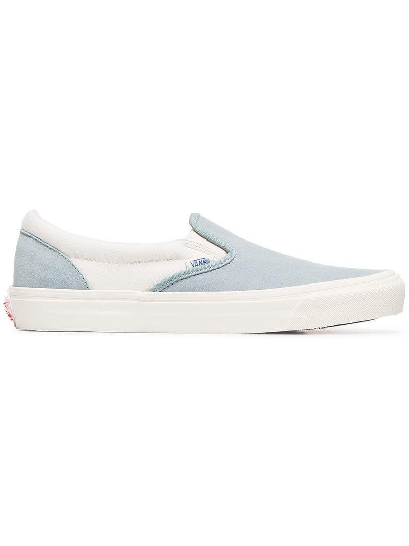 ba1f5c2fa09fa6 Vans - Blue Og Classic Slip-on Lx Cotton Sneakers for Men - Lyst. View  fullscreen