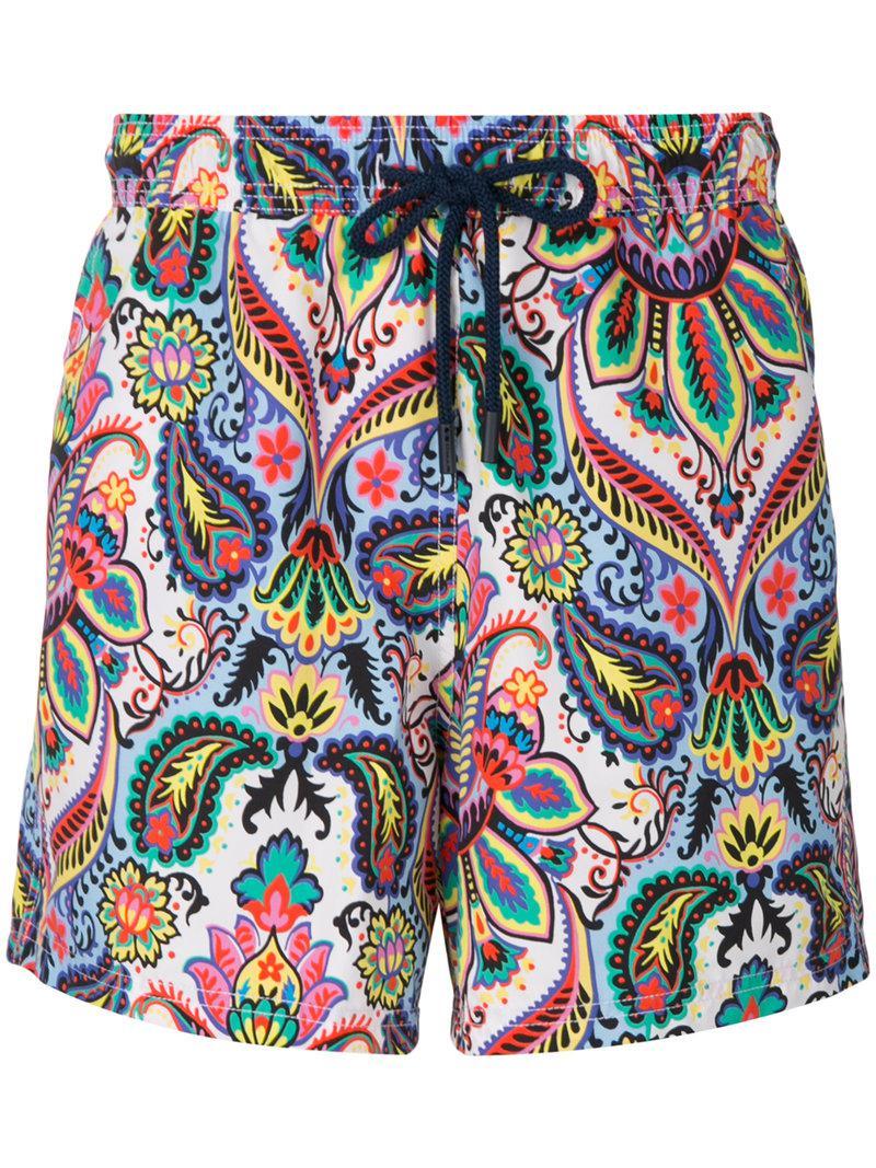 mixed paisley print swim shorts - Blue Etro Big Sale For Sale 1JQmtbTBt