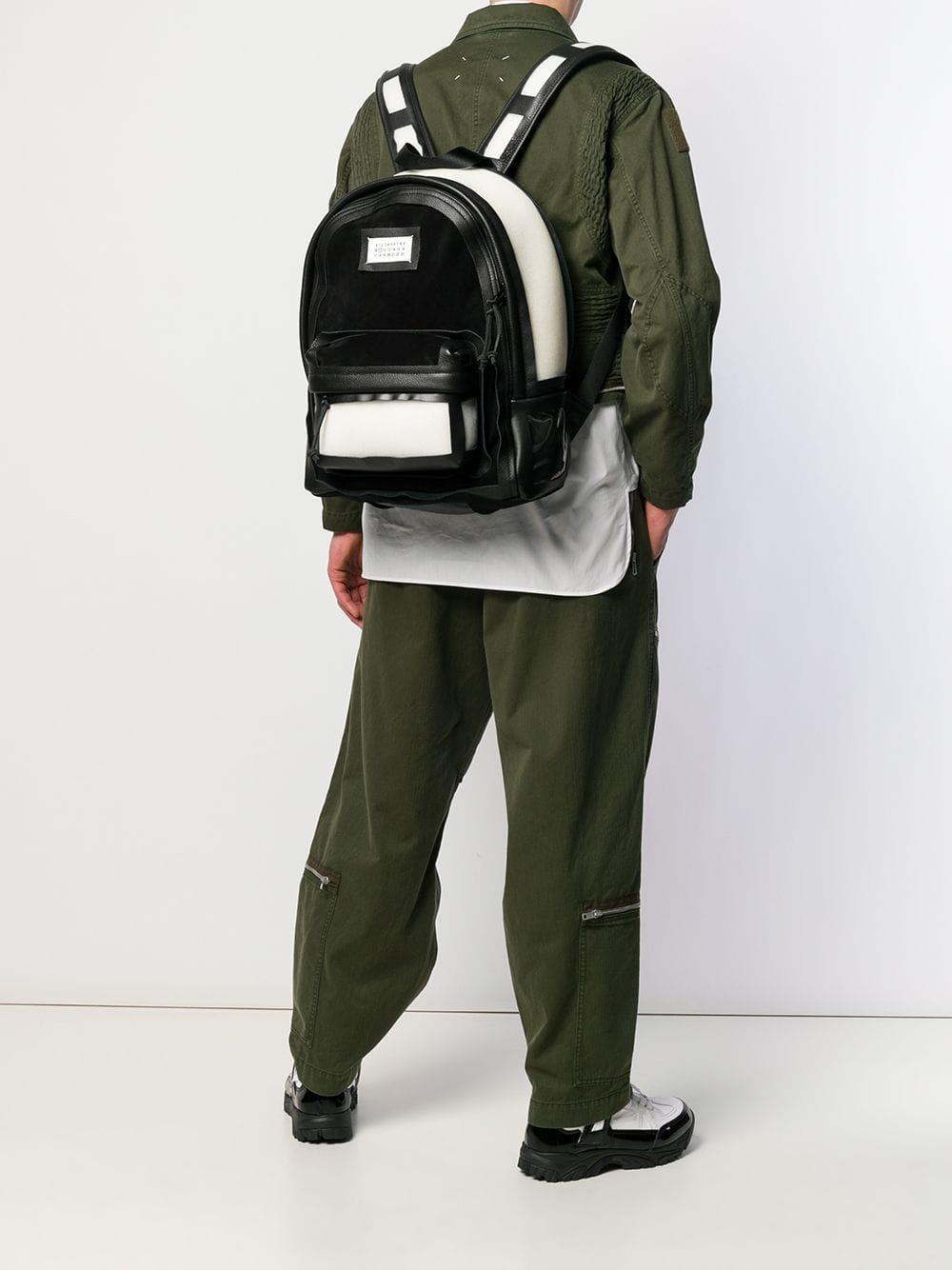 7bdddde476e27 Lyst - Maison Margiela Décortiqué Detailed Backpack in White for Men