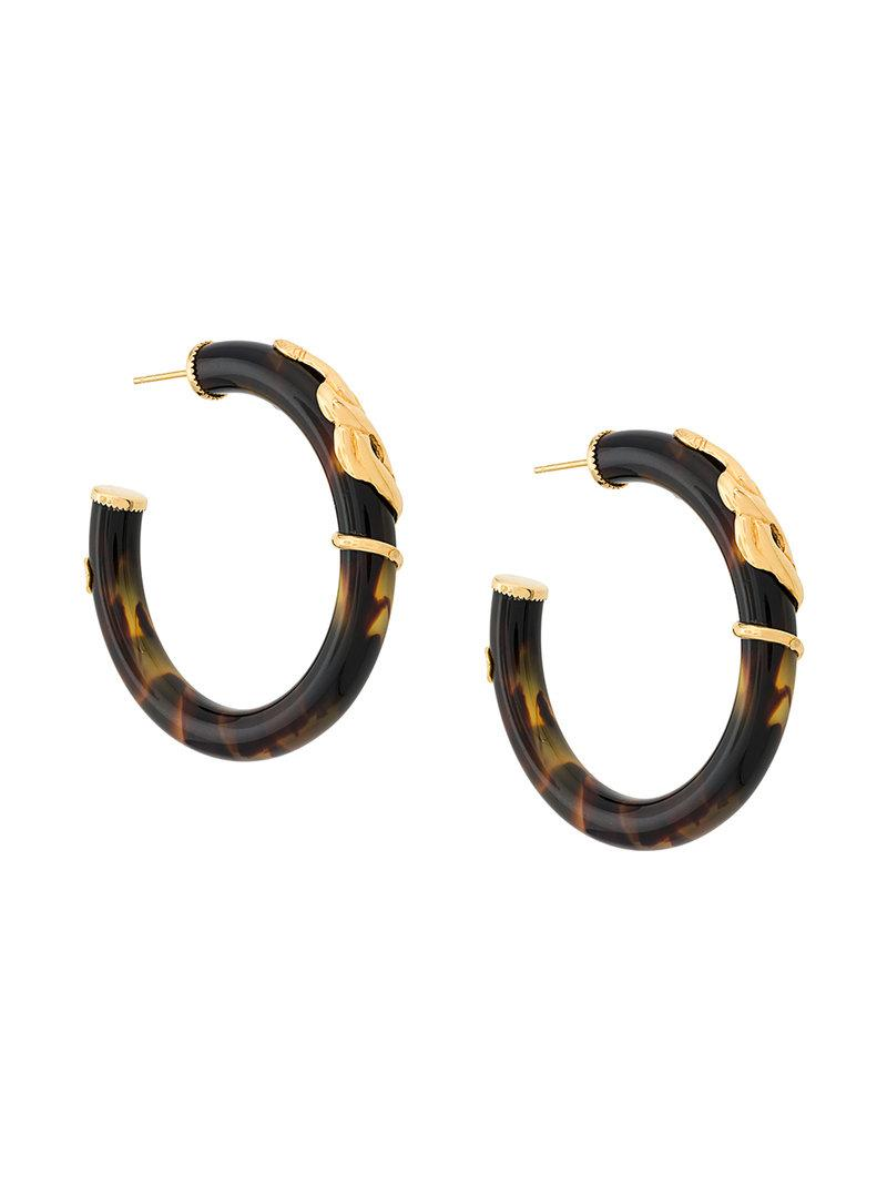 Alexia multi-hoop earrings - Brown Gas Bijoux Dxbzz