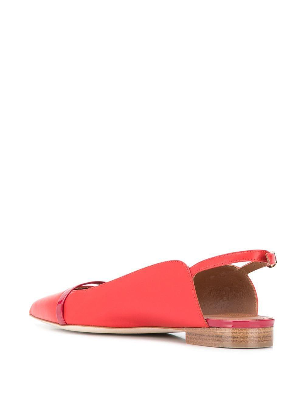 Slippers bajos Malone Souliers de Cuero de color Rojo